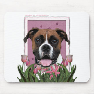 Mothers Day - Pink Tulips - Boxer - Vindy Mouse Mat