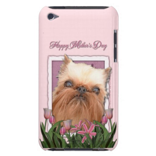Mothers Day - Pink Tulips - Brussels Griffon Barely There iPod Covers