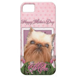 Mothers Day - Pink Tulips - Brussels Griffon iPhone 5 Cover
