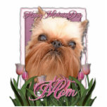 Mothers Day - Pink Tulips - Brussels Griffon Photo Cutout