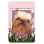 Mothers Day - Pink Tulips - Brussels Griffon Rectangular Magnet