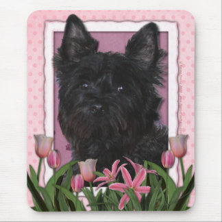 Mothers Day - Pink Tulips - Cairn Terrier - Rosco Mouse Mat