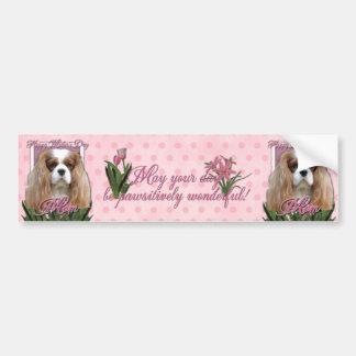 Mothers Day - Pink Tulips - Cavalier - Blenheim Bumper Sticker