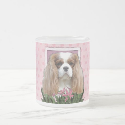 Mothers Day - Pink Tulips - Cavalier - Blenheim Frosted Glass Mug