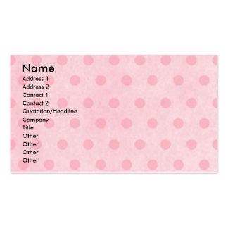 Mothers Day - Pink Tulips - Cavalier - Light Pack Of Standard Business Cards
