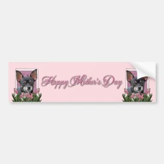 Mothers Day - Pink Tulips - Chihuahua - Isabella Bumper Sticker