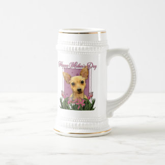 Mothers Day - Pink Tulips - Chihuahua Mugs