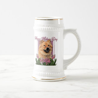 Mothers Day - Pink Tulips - Chow Chow - Cinny Coffee Mugs