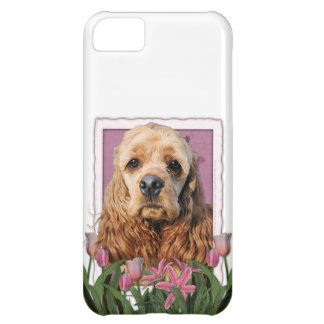 Mothers Day - Pink Tulips - Cocker Spaniel iPhone 5C Cover
