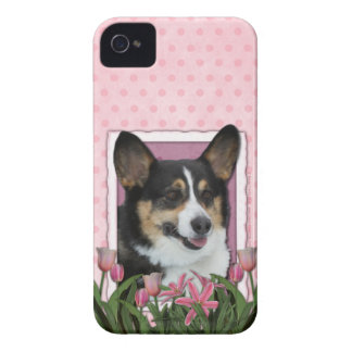 Mothers Day - Pink Tulips - Corgi - Owen iPhone 4 Case-Mate Case