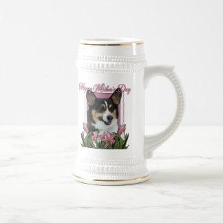 Mothers Day - Pink Tulips - Corgi - Owen Mugs