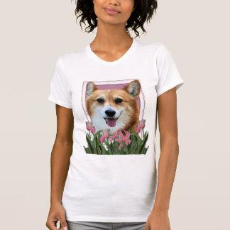 Mothers Day - Pink Tulips - Corgi - Owen T-Shirt