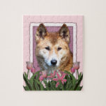 Mothers Day - Pink Tulips - Dingo Jigsaw Puzzle