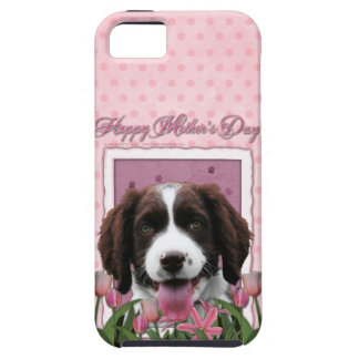 Mothers Day - Pink Tulips English Springer Spaniel iPhone 5 Cover