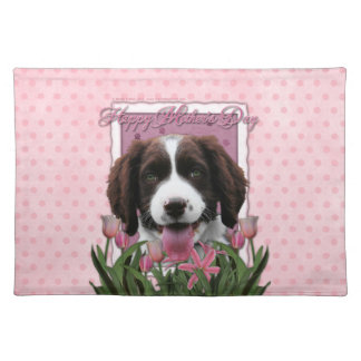 Mothers Day - Pink Tulips English Springer Spaniel Place Mats