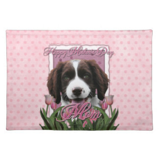 Mothers Day - Pink Tulips English Springer Spaniel Placemats