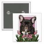 Mothers Day - Pink Tulips - French Bulldog - Teal Buttons