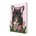 Mothers Day - Pink Tulips - Frenchie - Teal
