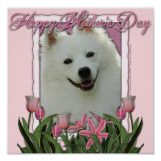 Mothers Day - Pink Tulips - German Shepherd Poster