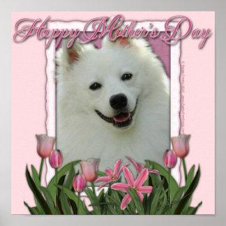 Mothers Day - Pink Tulips - German Shepherd Print