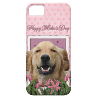 Mothers Day - Pink Tulips - Golden Retriever iPhone 5 Case