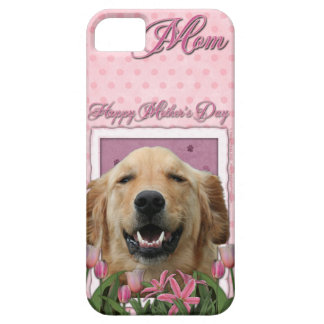 Mothers Day - Pink Tulips - Golden Retriever iPhone 5 Covers