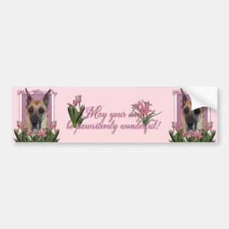 Mothers Day - Pink Tulips - Great Dane Bumper Stickers