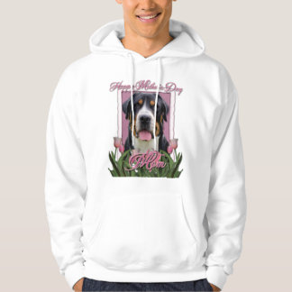 Mothers Day Pink Tulips Greater Swiss Mountain Dog Hoodie