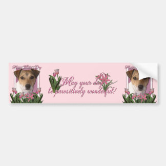 Mothers Day - Pink Tulips - Jack Russell Bumper Stickers