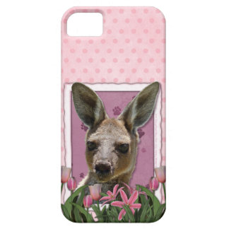 Mothers Day - Pink Tulips - Kangaroo Barely There iPhone 5 Case