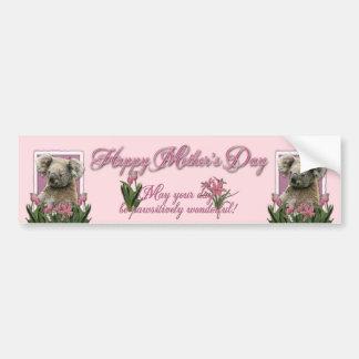 Mothers Day - Pink Tulips - Koala Bumper Sticker