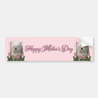 Mothers Day - Pink Tulips - Lowchen Bumper Stickers