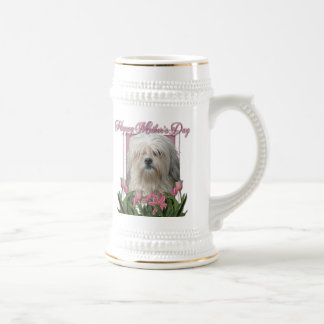 Mothers Day - Pink Tulips - Lowchen Coffee Mugs