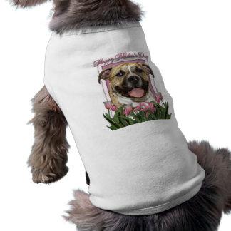 Mothers Day - Pink Tulips - Pitbull - Tigger Sleeveless Dog Shirt