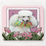 Mothers Day - Pink Tulips - Poodle - White