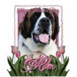 Mothers Day - Pink Tulips - Saint Bernard - Mae