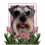 Mothers Day - Pink Tulips - Schnauzer