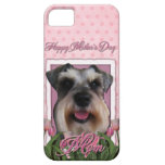 Mothers Day - Pink Tulips - Schnauzer iPhone 5 Case