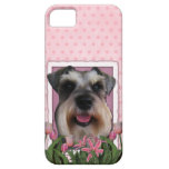 Mothers Day - Pink Tulips - Schnauzer Barely There iPhone 5 Case