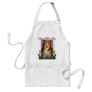 Mothers Day - Pink Tulips - Sheltie Standard Apron