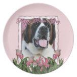 Mothers Day - Pink Tulips - St Bernard - Mae