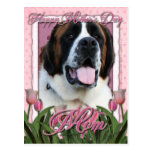 Mothers Day - Pink Tulips - St Bernard - Mae
