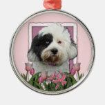Mothers Day - Pink Tulips - Tibetan Terrier