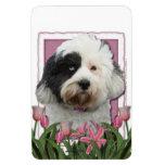 Mothers Day - Pink Tulips - Tibetan Terrier Magnet