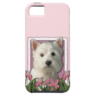 Mothers Day - Pink Tulips - Westie iPhone 5 Cases