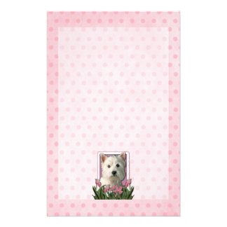 Mothers Day - Pink Tulips - Westie Stationery