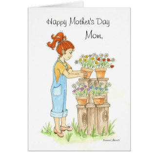 Mother's Day Pots of flowers Card