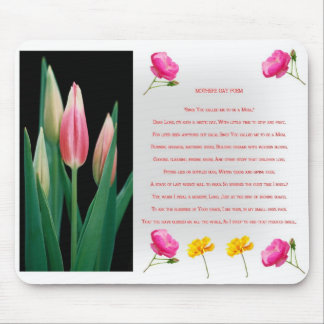 Mothers day Prayer poem Mouse Pad