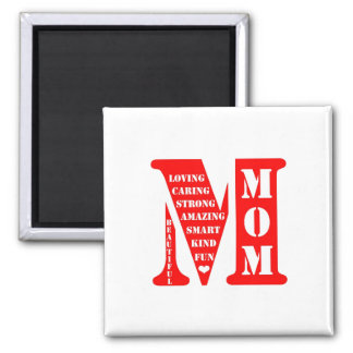 Mother's Day Present Square Magnet