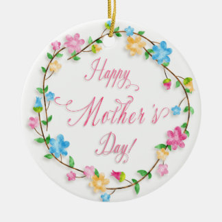 Mother's Day - Pretty Spring Florals Wreath WA Christmas Ornament